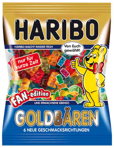 Goldbären Fan-Edition - 6 neue Sorten (200g)